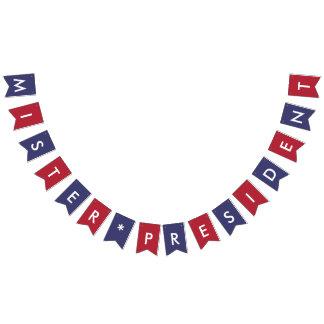 M. drapeau américain de typographie de Monsieur le