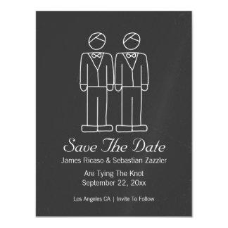 M. en M. Doodle Save The Date Vrolijk Huwelijk Magnetische Kaart