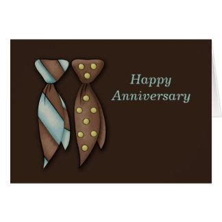 M. et M., anniversaire de mariage de deux mariés Carte De Vœux