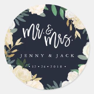 M. et Mme botaniques modernes Wedding Sticker de
