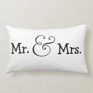 M. et Mme cadeau de mariage de jeunes mariés Coussins Carrés