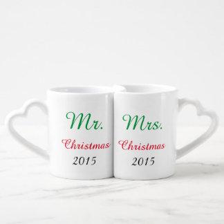M. et Mme Christmas Mugs Add votre propre année !