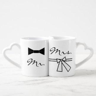 M. et Mme cravate d'arc et arc, avec XO Mug