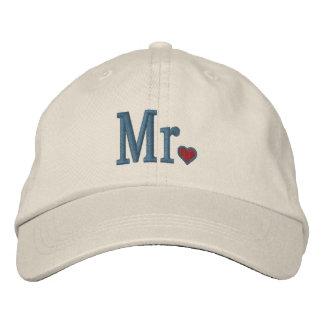 M. et Mme Embroidery Embroidered Cap Casquette De Baseball Brodée