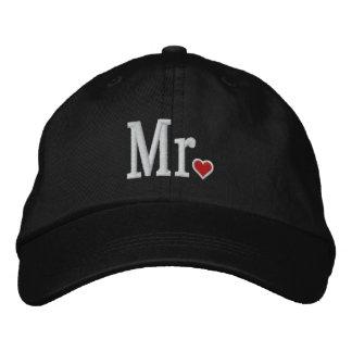 M. et Mme Embroidery Embroidered Cap Casquette De Baseball