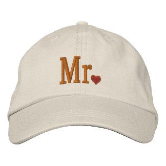 M et Mme Embroidery Embroidered Cap Chapeaux Brodés