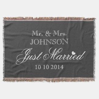 M. et Mme ont juste marié la couverture de jet