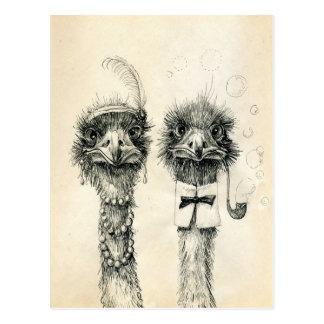 M. et Mme Ostrich Carte Postale