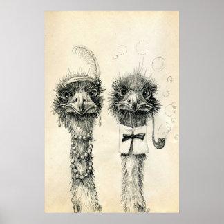 M. et Mme Ostrich Poster