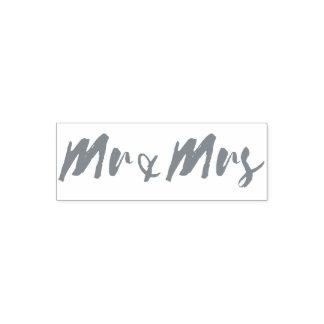 M. et Mme typographie de mariage de mot Tampon Auto-encreur