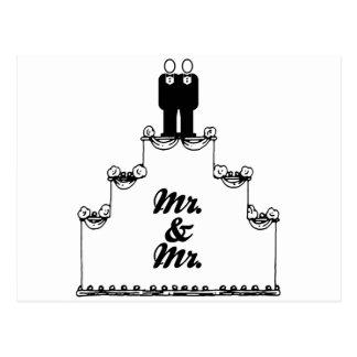 M. LESBIEN DE GÂTEAU DE MARIAGE ET M. - - - .PNG CARTE POSTALE