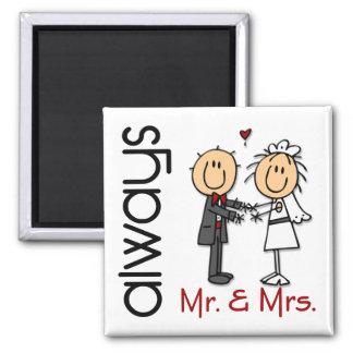 M. & Mevr. Always van het Paar van het Huwelijk Magneet