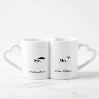M. Mme nom personnalisé d'amour Mug