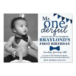 M. Onederful Birthday Invitation