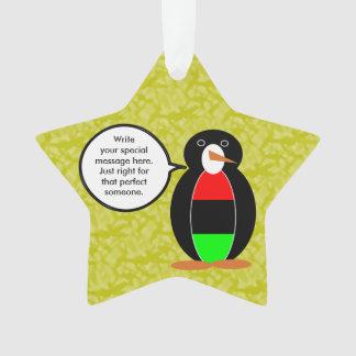 M. Penguin de vacances d'Afro-américain