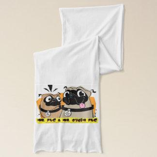 M. Pug et M. L'autre écharpe de carlin