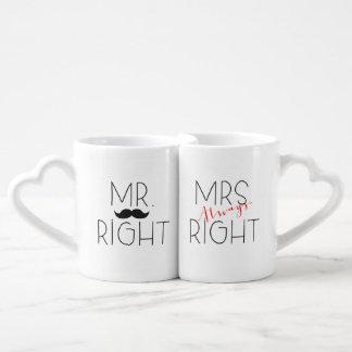 M. Right et ensemble de Mme Always Right Lovers Mug