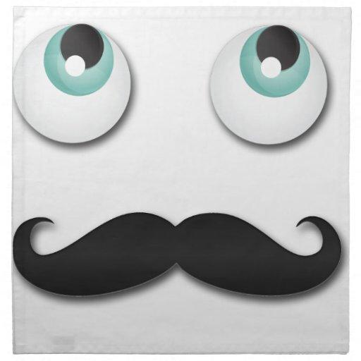 M. stache serviettes en tissus