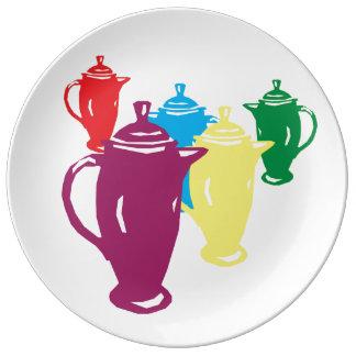 Ma cafetière préférée - un complément de assiette en porcelaine