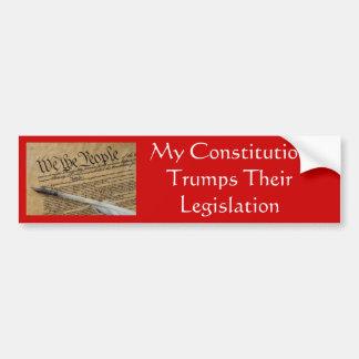 Ma constitution Trumps leur législation Autocollant De Voiture