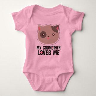 Ma marraine m'aime T-shirt de filles de chat de