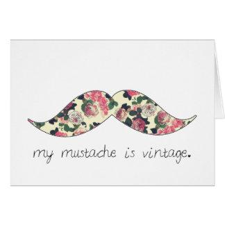 ma moustache est carte vintage