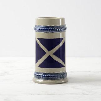 Ma prise sur le drapeau écossais Stein Chope À Bière