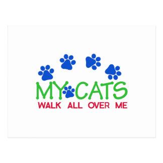 Ma promenade de chats cartes postales