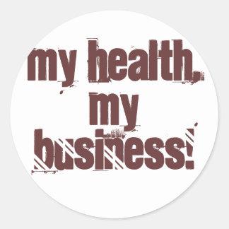 Ma santé, mes affaires ! sticker rond