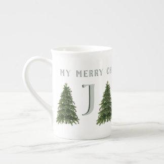 Ma tasse décorée d'un monogramme d'arbre de Joyeux