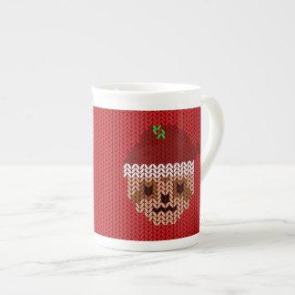 Ma tasse décorée d'un monogramme tricotée laide de