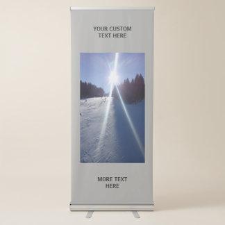 Maak tot uw eigen douane verticaal broodje op roll-up banner