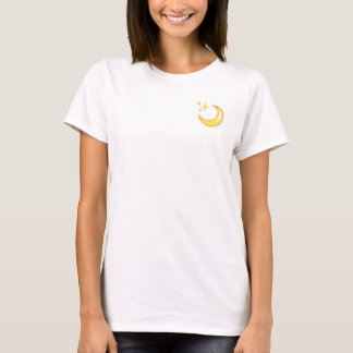 Maan & de T-shirt van Emoji van de Fonkeling