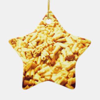 Mac et fromage végétalien… ornement étoile en céramique