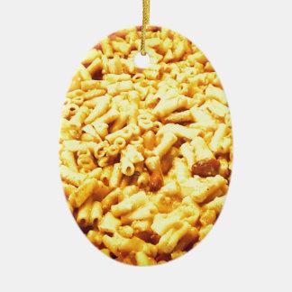 Mac et fromage végétalien… ornement ovale en céramique
