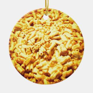 Mac et fromage végétalien… ornement rond en céramique
