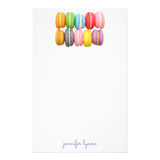 Macarons Motifs Pour Papier À Lettre