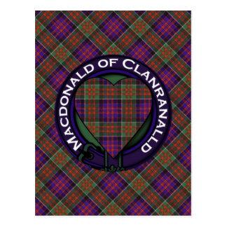 MacDonald de tartan d'écossais de Clanranalld Carte Postale