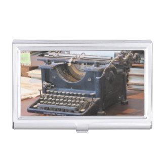 Machine à écrire antique porte-cartes de visite