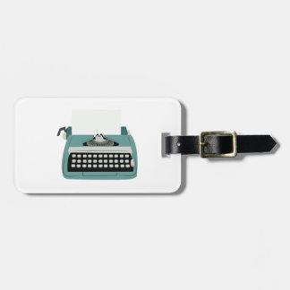 Machine à écrire étiquette pour bagages