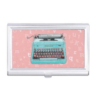 Machine à écrire tirée par la main boîtiers pour cartes de visite
