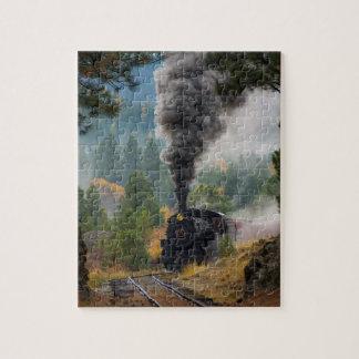 Machine à vapeur noire puzzle
