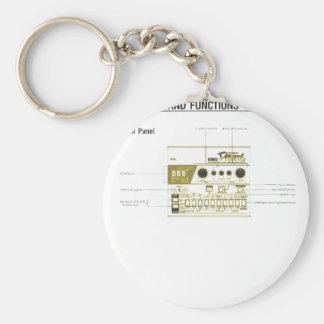 Machine de tambour porte-clé rond