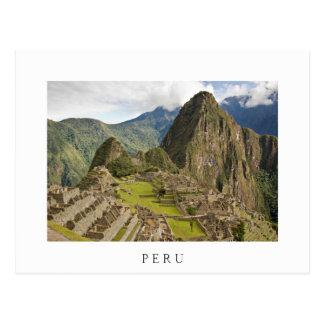 Machu Picchu, ville d'Inca en carte postale de