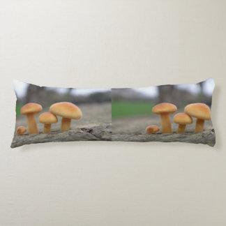 Macro coussin de corps de champignons minuscules