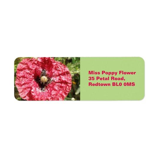 Macro étiquettes faits sur commande de fleur assez