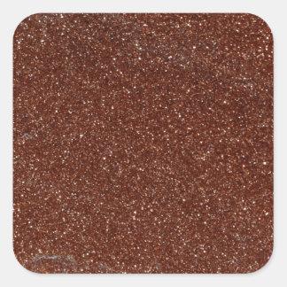 Macro photo de verre de Goldstone Sticker Carré