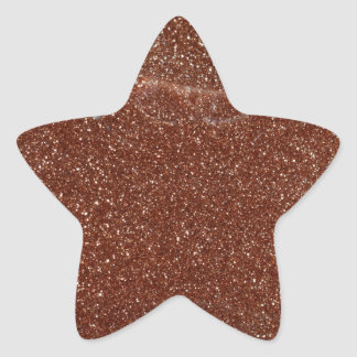 Macro photo de verre de Goldstone Sticker Étoile