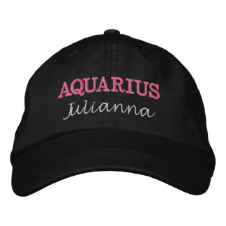 Madame Aquarius Zodiac Embroidered Cap Casquette Brodée