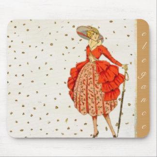 Madame chic de l'élégance Mousepad Tapis De Souris